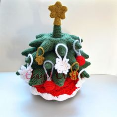 Crochet Pattern Christmas Tree Stacking Rings
