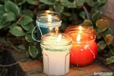 citronella and eucalyptus scented candle for outdoor