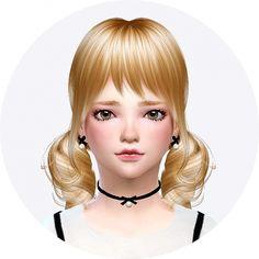 Child thin ribbon choker & earrings at Marigold via Sims 4 Updates Check more at http://sims4updates.net/accessories/child-thin-ribbon-choker-earrings-at-marigold/
