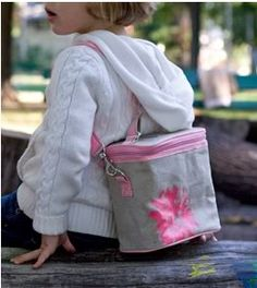 Children's cooler bag by SoYoungMother - great lunchbox alt and the strap keeps preschoolers from making YOU carry it!