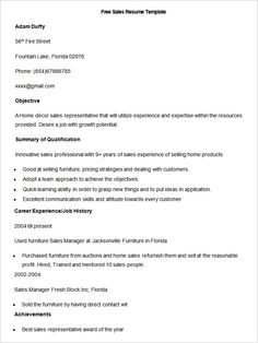 Resume template Free Sample Sales Resume Template , Write Your Resume Much Easier with Sales Resume Examples , Sales resume examples are usually easy to find with various formats and writing methods. Sales resume itself covers wide ranges of sales such as insur...
