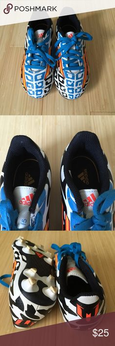 Adidas Messi design soccer cleats size 12k Adidas Messi design soccer cleats size 12k. Great condition and only wore few times. Adidas Shoes