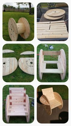 - My site Cable Reel Beer Drinking chair. Diy Cable Spool Table, Wood Spool Tables, Wooden Cable Spools, Spool Chair, Chaise Diy, Diy Outdoor Fireplace, Fireplace Ideas, Cable Drum, Diy Chair