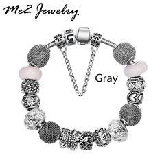 Bracelets  European Charm Bracelets Women bracelet Plating Silver Charm Bracelets Diy Jewelry Fit pan bracelet *** Detalhes sobre este excelente produto podem ser vistos clicando na imagem