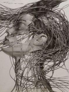 """Cane Dojcilovic; Pencil, Drawing """"Drawing #12"""""""