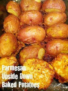 Parmesan upside down potatoes