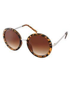 ASOS Round Sunglasses With Metal Bridge Detail
