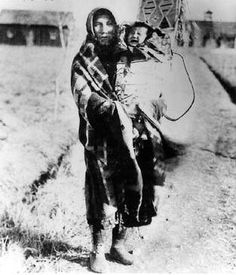 Crow woman and child - circa 1890