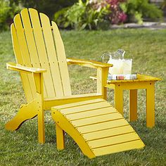Adirondack Chair, Yellow