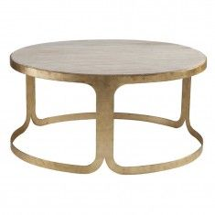 the new beautiful Bennett Coffee Table from ShopCandelabra #table #gold #dwellstudio