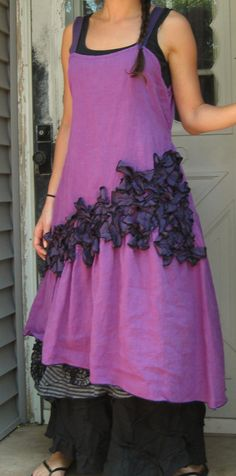 Purple New Mini Petals Dress XL by sarahclemensclothing on Etsy