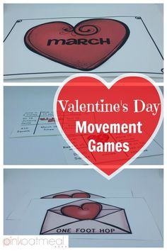 Valentine's Day Movement Games are perfect for the month of February.  They work great for a Valentine's Day Party and are awesome for brain breaks!