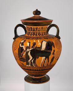 didoofcarthage:  Black-figure neck-amphora, attributed to ExekiasAttic Greece, c. 540 B.C.terracottaMetropolitan Museum of Art