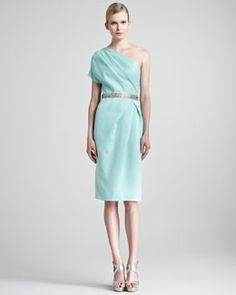 Bridesmaid - B205N Lela Rose Draped One-Shoulder Dress