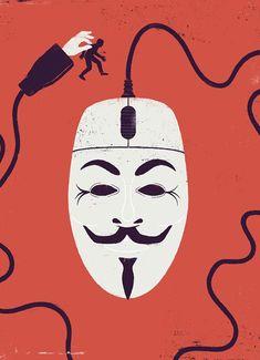 Illustration - Sebastien Thibault #15m #democraciareal #wikileaks