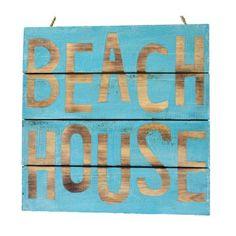 Earth de Fleur Homewares - Handmade 'Beach House' Board Sign Wall Art
