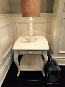Solid Wood Rustic French Country Shabby Chic End Side Table Oakville Halton Region Toronto