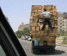 He-van's very professional courier service... A name in which you can trust! :-)