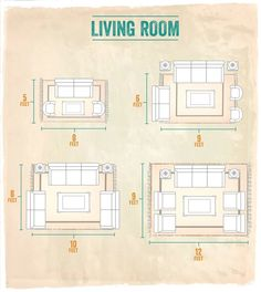 Creative Area Rug Sizes For Living Room