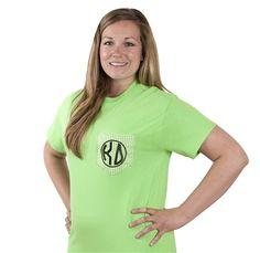 Kappa Delta Gingham Pocket T-Shirt. www.sassysorority.com #gingham #KD #KappaDelta #love #pockettee #sassysorority #bidday #kdtshirt #monogram