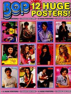 Jonas Brothers,  Selena Gomez, Miley Cyrus,Demi Lovato, Taylor Swift, Robert, Miranda Cosgrove, Taylor, Jake T. Austin