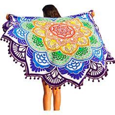 Magic Lotus Colorful Beach Towel LAVELIQ