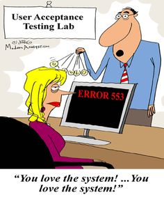 analyst jokes | Humor - Cartoon: The Business Analyst must ensure the client is happy ...