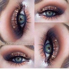 Makeup look using Makeup Geek ' s new foiled eyeshadows! So pretty!
