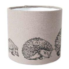 Linocut hedgehog lampshade // SS15: Almond
