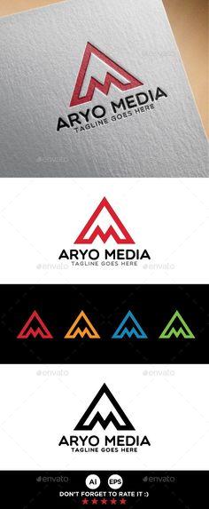 A M Letter Logo Template - Letters Logo Templates
