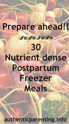 What a FANTASTIC resource!! Authentic Parenting: Postpartum Paleo Freezer Meals - Recipe Roundup Post