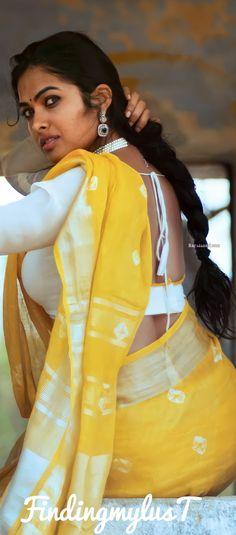 Beautiful Blonde Girl, Beautiful Girl Indian, Most Beautiful Indian Actress, Beautiful Girl Image, Beautiful Eyes, Indian Photoshoot, Saree Photoshoot, Cute Beauty, Beauty Full Girl