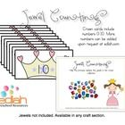 Help the princess replace all of the jewels in her crown collection. Printable numbered crowns 0-10 (numbers can be added upon request at edlah.com)