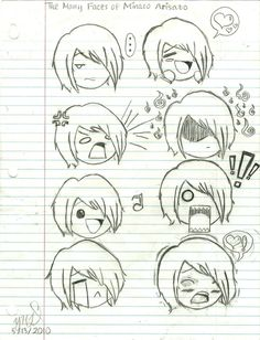 chibi emotions   Faces of Minato Arisato by YosukeHanamurasLove on deviantART