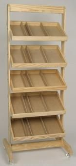 Wooden Crate Rack, Display Stand, Wooden Display Stand
