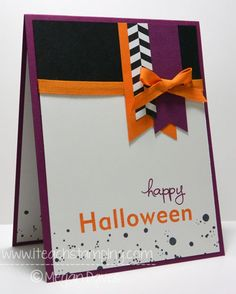 Monday Paper Crafts Idea: DIY Halloween Card using Frightful Wreath Stampin' Up!    View project here: http://www.iteachstamping.com/halloween-frightful-stampin/