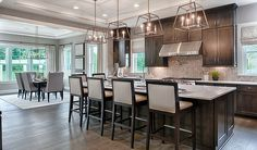 Look at the size of this kitchen island in Aldie, VA! | Jonathon plan by Richmond American