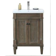 Organize your bath space with the 24 in. H Vanity in Weathered Gray with Porcelain Vanity Top. It will fulfill all your bath storage needs. This vanity is constructed of solid wood and MDF/veneer for a durable use. Gray Vanity, Wood Vanity, Vanity Sink, Bath Vanities, 24 Inch Vanity, 24 Inch Bathroom Vanity, Granite Vanity Tops, Marble Vanity Tops, Home Depot