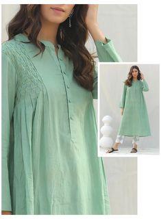 Simple Pakistani Dresses, Pakistani Fashion Casual, Indian Fashion Dresses, Frock Fashion, Pakistani Dress Design, Fashion Outfits, Sleeves Designs For Dresses, Dress Neck Designs, Stylish Dress Designs