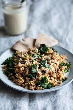 Cumin Spiced Lentils and Rice with Everyday Lemon Tahini Dressing (The Full Helping) Lentil Recipes, Rice Recipes, New Recipes, Vegetarian Recipes, Easy Recipes, Recipies, Lemon Tahini Dressing, Lentils And Rice, Bon Appetit