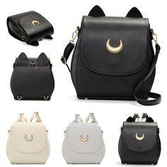 Ladies Moon Print Casual Crossbody Bag Sweet Leisure Backpack Elegant Shoulder Bag