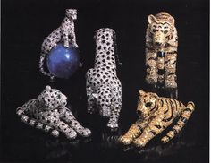 """from """"Jewels of the Duchess of Windsor"""" Sotheby's, 1987. The Duchess' Cartier leopard/panther pieces"""