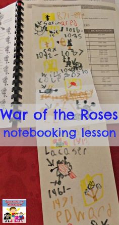 War of the Roses notebooking lesson