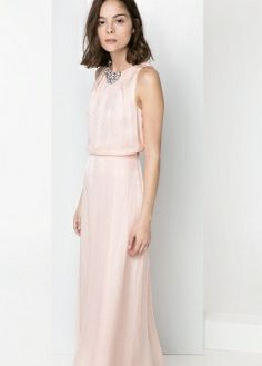 Silk-blend long dress