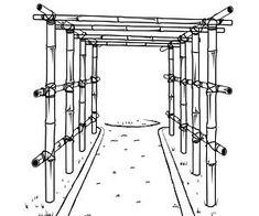 Fabriquer une pergola ou une tonnelle - une idée pour recycler les bambous