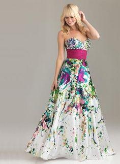 glamorous long dress