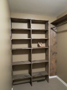 Let's Just Build a House!: Walk-in closets: No more living out of laundry baskets! Diy Walk In Closet, Deep Closet, Closet Redo, Build A Closet, Closet Remodel, Master Bedroom Closet, Budget Bedroom, Closet Ideas, Closet Renovation