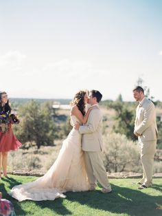Seal The Deal With A Kiss at Brasada Ranch photography by Marina Koslow Cascade Mountains, Local Photographers, Rustic Wedding, Ranch, Seal, Scenery, Kiss, Photography, Inspiration