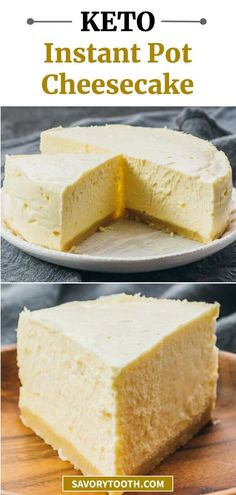 Instant Pot Cheesecake Recipe, Sugar Free Cheesecake, Cheesecake Crust, Cheesecake Recipes, Dessert Recipes, Best Low Carb Cheesecake Recipe, Dishes Recipes, Low Carb Chicken Recipes, Low Carb Recipes
