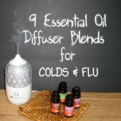 9 Essential Oil Diffuser Blends for COLDS & FLU - You can find Essential oils for colds and more on our Essential Oil Diffuser Blends for COLDS & FLU - Essential Oil Blends For Colds, Essential Oils For Cough, Helichrysum Essential Oil, Essential Oil Perfume, Essential Oil Diffuser Blends, Pcos, Allergies, Oil For Cough, Stress